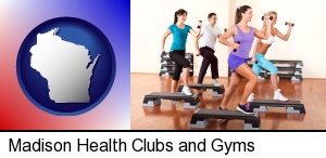 Madison, Wisconsin - an exercise class at a gym