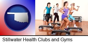 an exercise class at a gym in Stillwater, OK
